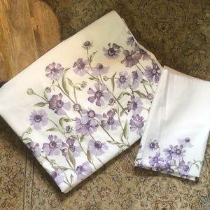 CREEVE size Queen Purple Daisy Flower Duvet Pillow
